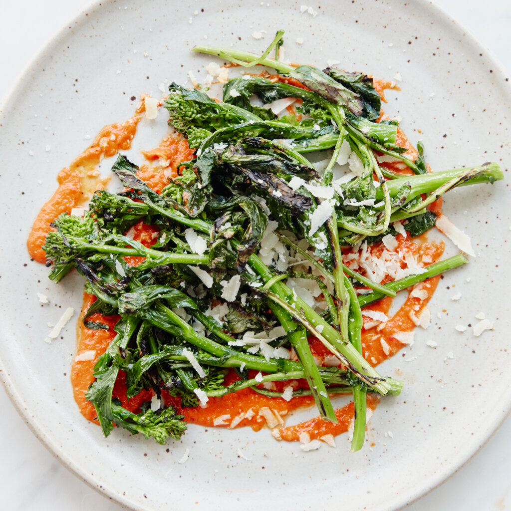 broccoli rabe with salsa rossa